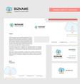 cloud downloading business letterhead envelope vector image vector image