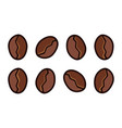 coffee beans vector image