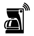 coffee maker icon simple black style vector image