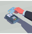 Contactless payment vector image vector image