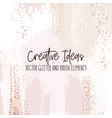 creative brush strokes glitter elements golden vector image vector image