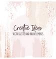 creative brush strokes glitter elements golden vector image