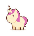 cute little unicorn cartoon comic character with vector image