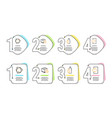 delivery timer water bottle and recycle icons set vector image vector image