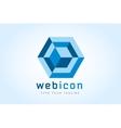 Diamond technology icon monogram set vector image vector image