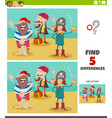 differences educational game with pirate vector image vector image