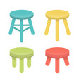 Different stool with three legs set