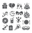 event icons set on white background vector image vector image