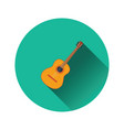 flat design icon of acoustic guitar vector image vector image
