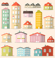 Flat Design Paper Houses - Buildings Set vector image vector image