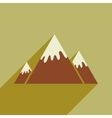 flat icon with long shadow Canadian mountain vector image vector image