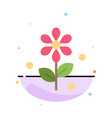 flower easter nature abstract flat color icon vector image