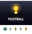 Football icon in different style vector image vector image