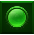 Green glossy button vector image vector image