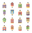 house design icons vector image vector image