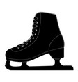 ice skate black silhouette icon vector image vector image