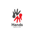 letter h hands care logo vector image vector image
