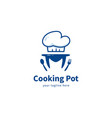 letter m cooking pot logo icon symbol cooking pot vector image vector image