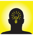 Lightbulb profile vector | Price: 1 Credit (USD $1)