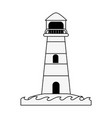 lighthouse navigation symbol vector image