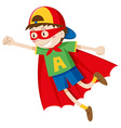 Little boy in superhero costume vector image vector image