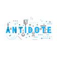 Medicine concept antidote vector image