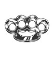monochrome brass knuckles vector image