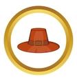 Piligrim hat icon vector image vector image