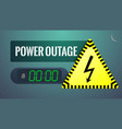 power outage blackout concept vector image vector image