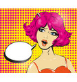 promo girl your advertising brand here pop art vector image vector image