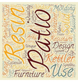 Resin Patio Furniture Robust Furniture Ranges For vector image vector image