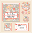 save the date template series 1 vector image vector image