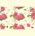 seamless hibiscus floral pattern vector image vector image