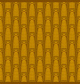 seamless pattern with golden ears corn vector image vector image