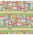 seamless pattern with houses and roads vector image vector image
