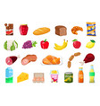 set food vector image
