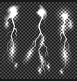 set of different thunders vector image vector image