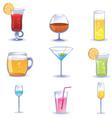 set summer cocktails vector image vector image