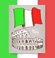 Sketch Italian poster vector image vector image