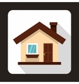 Small cottage icon flat style vector image vector image