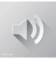 Speakers Voice Flat Icon Design vector image