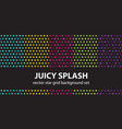star pattern set juicy splash seamless vector image vector image