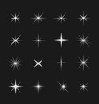 stars and sparks vector image vector image