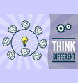 think differently concept vector image