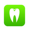 tooth icon digital green vector image vector image