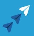 unique white paper plane vector image vector image