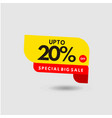 up to 20 special discount label template design vector image vector image