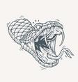 venomous snake tattoo vector image