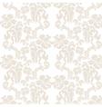 Vintage elegant lily flower ornament pattern vector image vector image