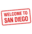 welcome to San Diego red grunge square stamp vector image vector image